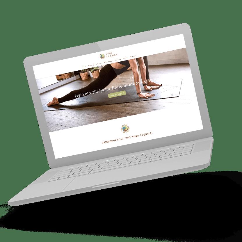 Yoga Sagama hemsida