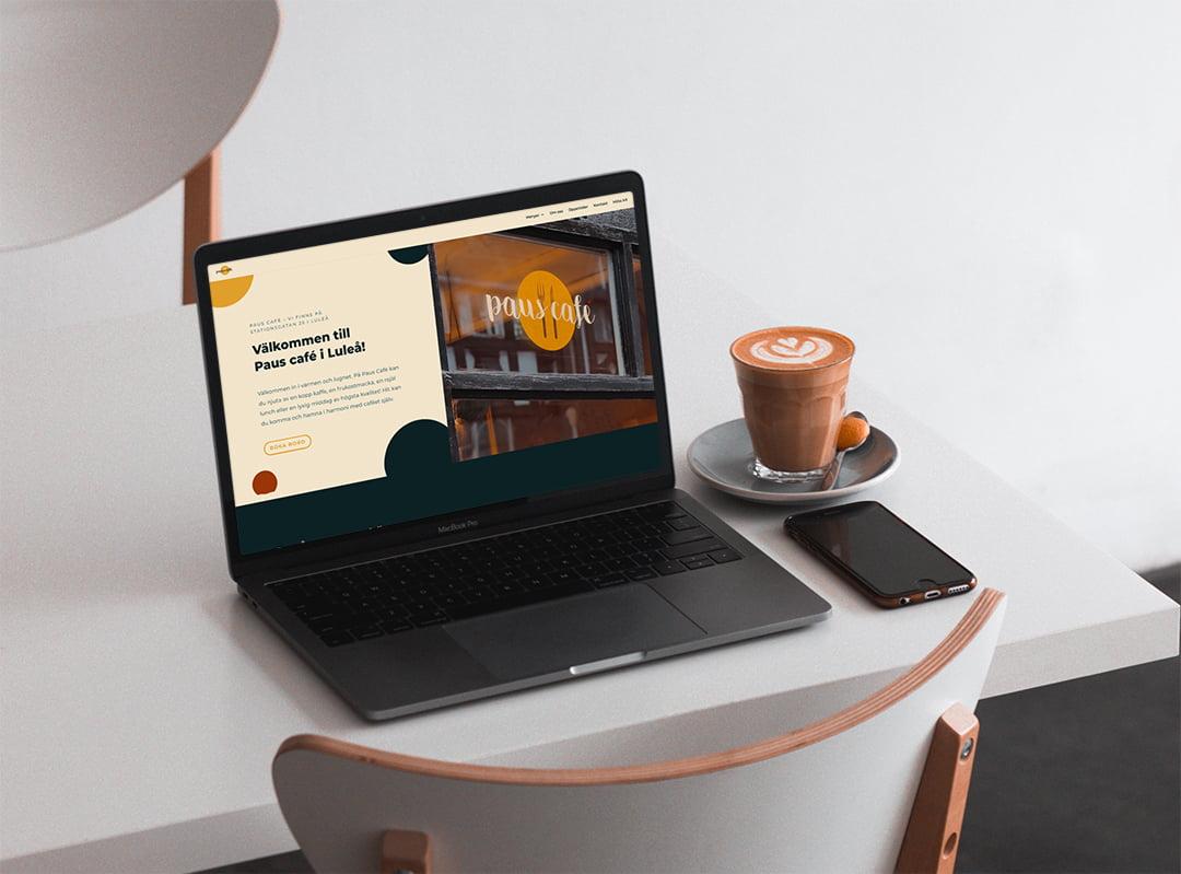 Paus Café Luleå hemsida