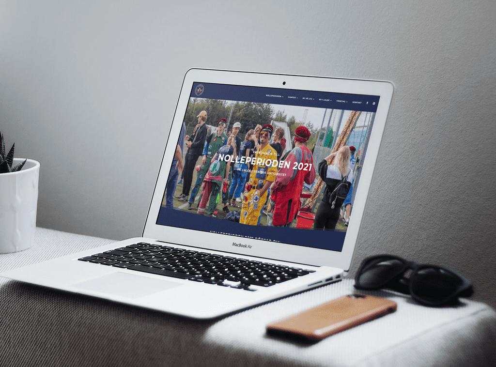 nolleperioden hemsida av våra webbdesigner på vår webbyrå