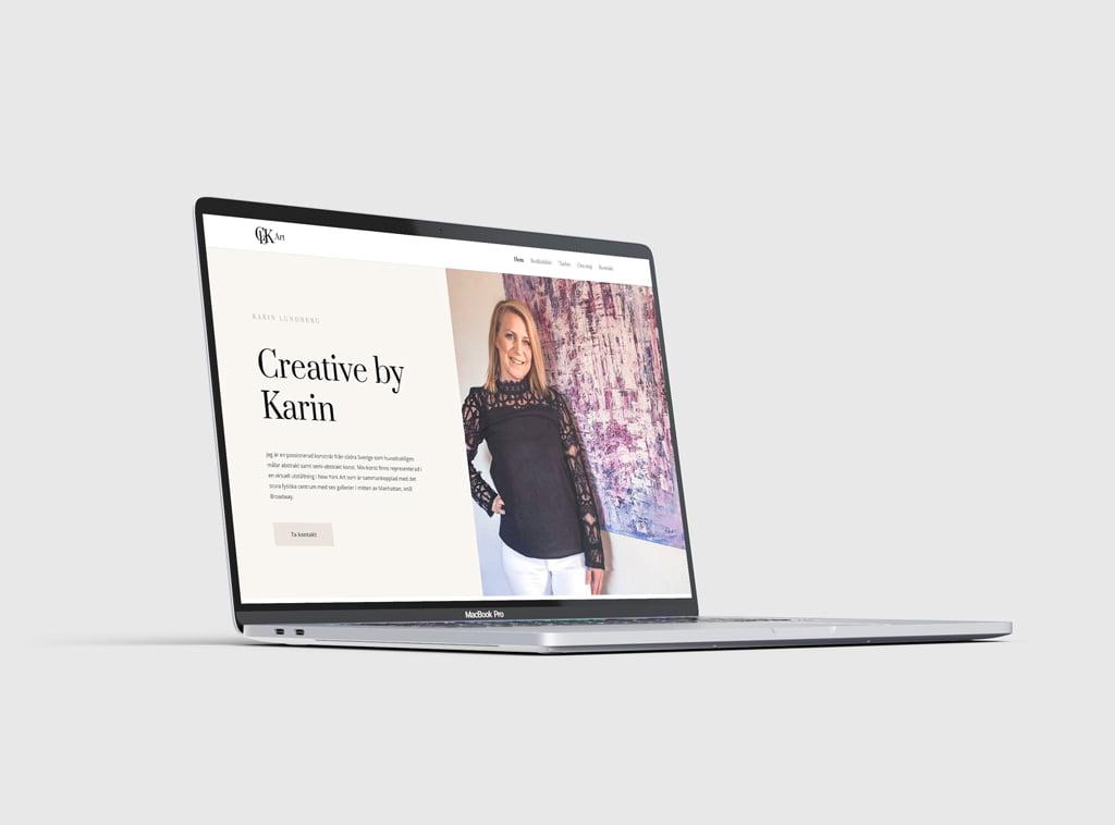 CBK Art nystartade företag ville stärka sitt varumärke med stilren logotyp och modern hemsida